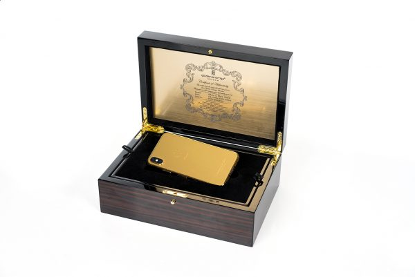 gold edition iPhone 7 256 GB wooden box